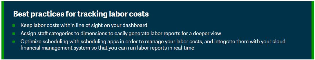 labor costs - best practices
